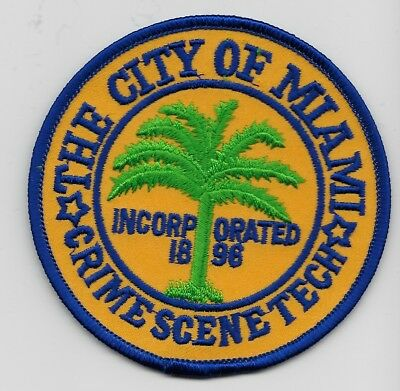 Miami Police Crime Scene Forensic CSI police patch State FLorida FL
