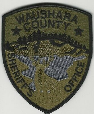 SWAT SRT Waushara County Sheriff State Wisconsin WI Subdued patch