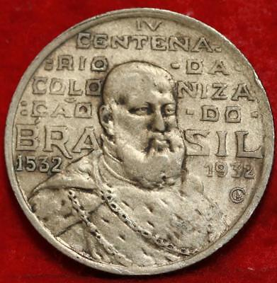 1932-G Brazil 2000 Reis Foreign Coin Free S/H