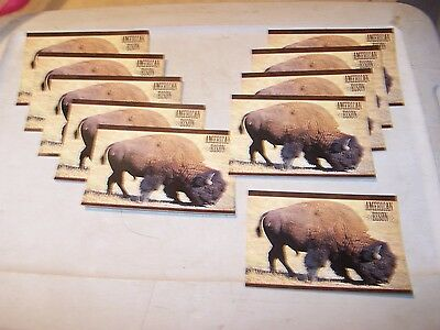 10 Unused AMERICAN BISON Buffalo Postcards