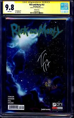 Rick and Morty #13 VARIANT CGC SS 9.8 signed Tom Fowler ADULT SWIM NM/MT