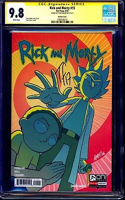 Rick and Morty #15 VARIANT CGC SS 9.8 signed Tom Fowler ADULT SWIM NM/MT