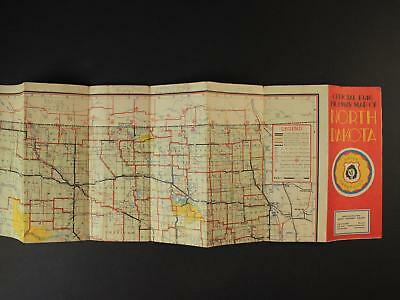 1946 Official Highway Map Of North Dakota  State Highway Department Road Map