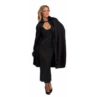 """Adult's Theatrical Vampire Witch Opera Cape 45"""" Black"""