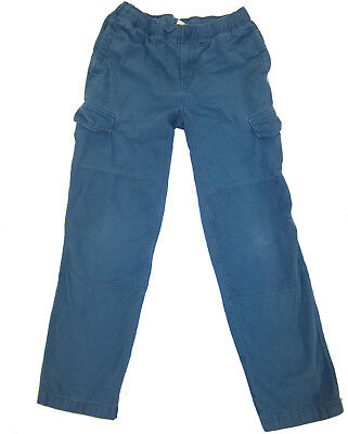 Lands' End Iron Knee Cargo Pants 16 S Slim teal blue