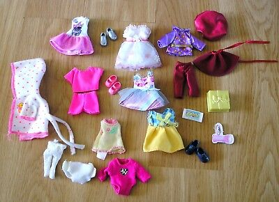 Lot of Barbie Kelly Doll Clothes, Accessories And Shoes
