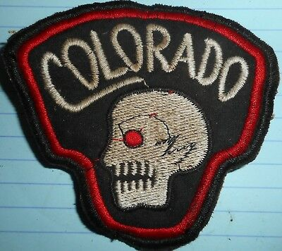 DEATHS HEAD SKULL - PATCH - RECON TEAM COLORADO - KHE SANH - Vietnam War - 110