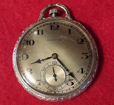 Hamilton Pocket Watch #916 14 K Gold Filled 17Jewel Size 12 S/N 3116891 1937