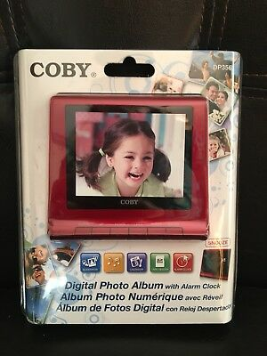 Brand New - Coby Alarm Clock w/ Digital Photo Album DP356 red