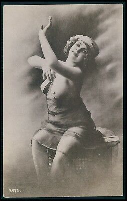 nude Fernande photogravure Erotic french risque sexy old c1910-1920s postcard