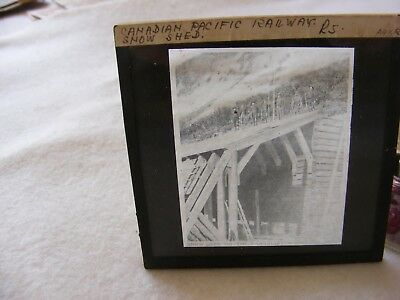 Vintage Photography Glass Negative Canadian Pacific Railway Snow Shed
