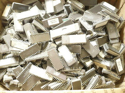 Lot of #5.59Lbs Eprom,EEProm,CPUs,Ceramic IC Chips for Scrap Gold Recovery