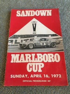 Sandown Marlboro Cup 1972 Official Programme Touring Cars
