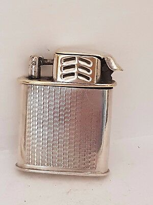 Vintage Sterling Silver Body The Ascot Petrol Lighter