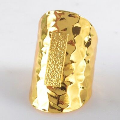 Size 5.5 Blank Settings Cuff Open Ring Gold Plated Copper Brass Findings H103654