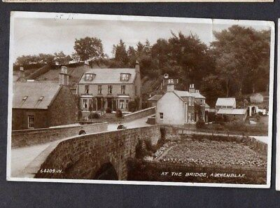 Kincardine.auchenblae.1943.'at The Bridge,auchenblae' Old B&w Photo Pc.