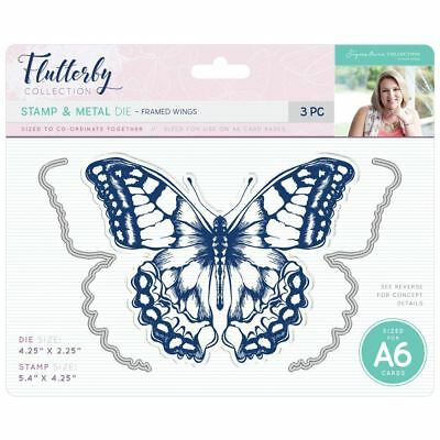 Sara Davies Flutterby Signature Collection - Stamp & Die - Framed Wings