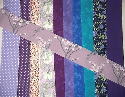 100% cotton / batik jelly roll strips 1 metre x 6.5 cm  fabric remnant material