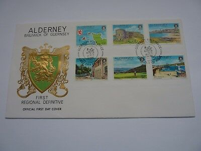 Alderney Definitive Issue 1983 FDC