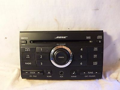 07 08 Nissan Maxima Bose Radio 6 Disc Cd Face Plate 28185-ZK31A KC6909