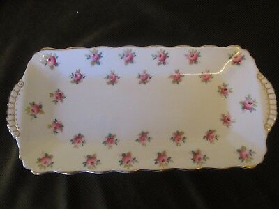 "Vintage Duchess China 10"" Sandwich Tray Ditsy Rosebuds"