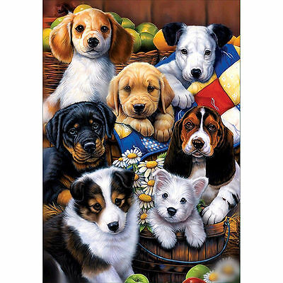 "Diamond Painting - Diamant Malerei - Stickerei - ""Hunde"" - Set - Neu (466)"