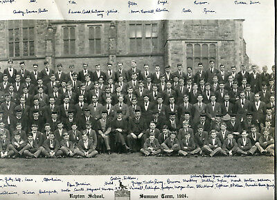 Original 1924 photograph Repton School Summer Term photograph