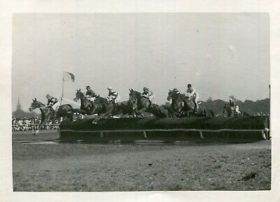 Original photograph Unidentified steeplechase horse race
