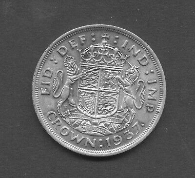GREAT BRITAIN , GEORGE VI , pre 1947 SILVER , 1937 CROWN