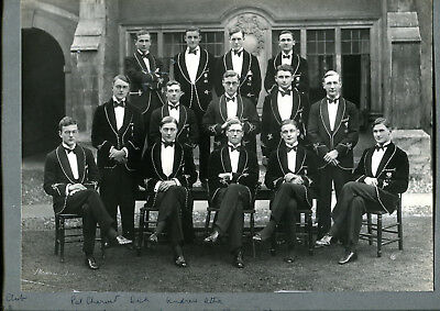 Original 1928 photograph The Chess Club Repton School by Stearn of Cambridge