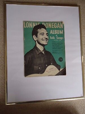 "LONNIE DONEGAN ""Album Of Folk Songs"" VOLUME 2 1956 song book VINTAGE 62 YRS OLD"