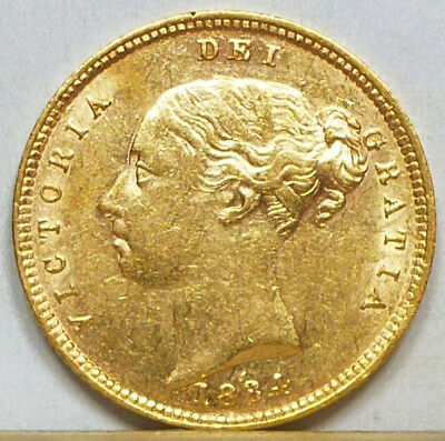 Great Britain Gold Half Sovereign 1884 Extremely Fine +