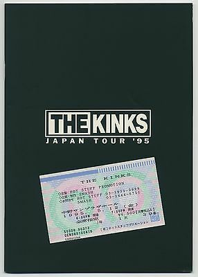 The Kinks - Japan Tour '95 JAPAN PROGRAM with TICKET STUB May 10-19 1995