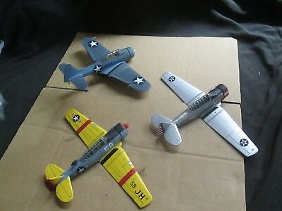 3 X Ww2 U.s.aircraft (1:72 Scale) Unboxed Lot B65