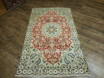 Ca1930 VG DY ANTIQUE PERSIAN NAEIN NAIN HABIBIYAN 3.7x6.2 ESTATE SALE  RUG