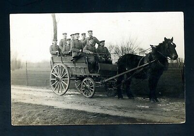 Germany  World War One  Soldiers/Horse Transport  Postcard   (O1114)