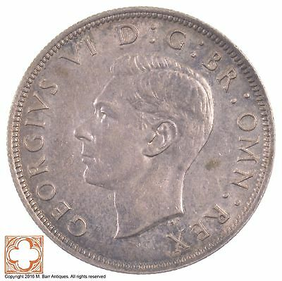 1941 Great Britain Silver Half Crown King George VI *5481