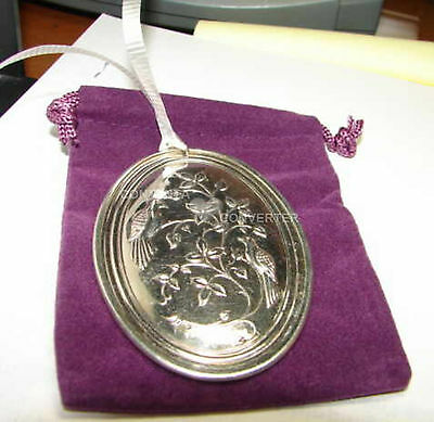 1972 Towle Sterling 2 Turtle Doves Christmas Ornament