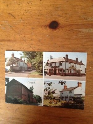 Cosby ( Leicestershire ) - Multi-View Vintage Postcard 1990