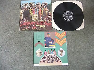 The Beatles, Sgt Peppers Lonely Hearts Club Band Vinyl Album, VG/EX.