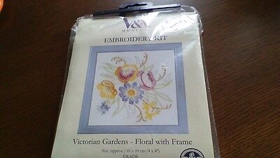 DMC printed Embroidery kit with frame NEW
