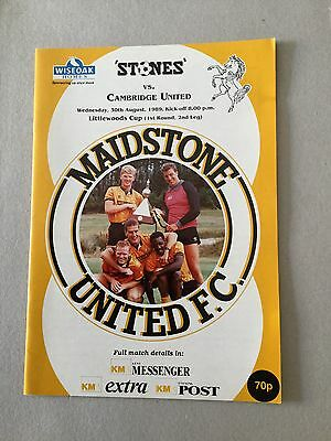 MAIDSTONE UNITED v CAMBRIDGE UNITED ( Littlewoods cup ) 1989/0.