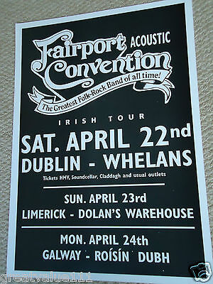 Fairport Convention Tour Gig Poster 2000 Mint Dated Unreleased Valuable Raregem