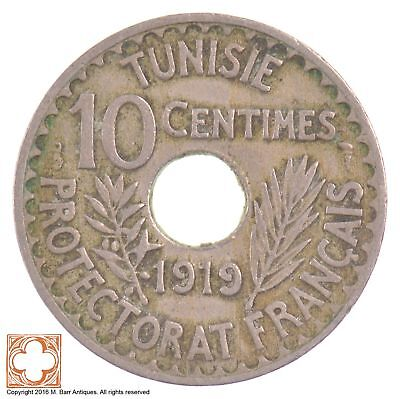 1919 French Tunisia 10 Centimes *6443