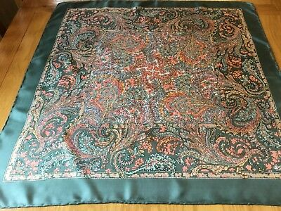 VINTAGE LIBERTY HAND ROLLED PAISLEY SILK SCARF.  27 x 26 INCHES.  PRETTY!-