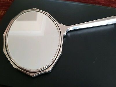 Art Deco Silver backed hand mirror