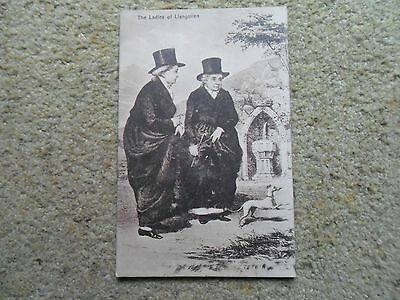 .vintage.postcard.the Ladies Of Llangollen.not Posted