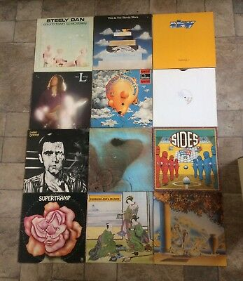 Job Lot Vinyl Records LPs Prog Rock Albums ELP PINK FLOYD PETER GABRIEL