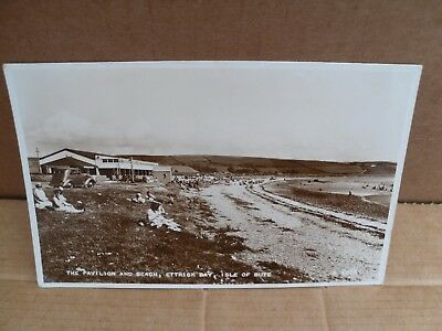 Ettrick Bay Isle Of Bute Pavilion & Beach Old Black & White Postcard Vj5824 Car