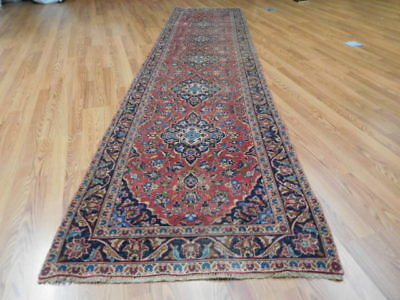 Ca1930 VG DY ANTIQUE PERSIAN CLASSIC SHADSAR KASHAN 3x12.4 ESTATE SALE RUG